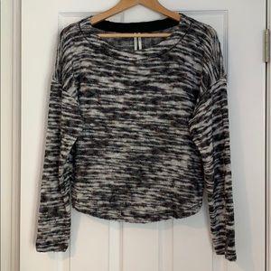Anthropologie knit multi stripe top, size M